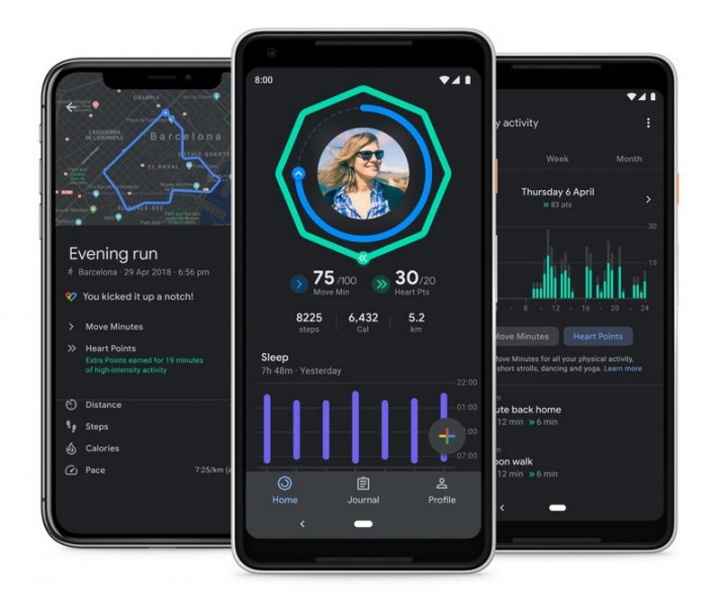 Google Fit sono dark mode Android iOS