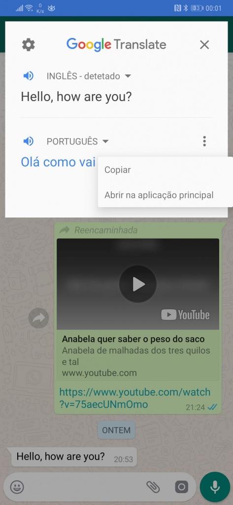 tradutor Google Android aplicação traduzir