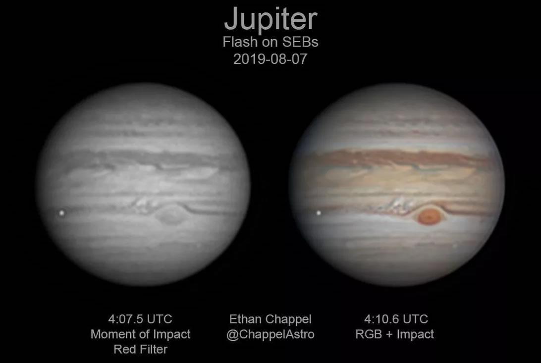 Júpiter acabou de ser atingido por algo tão grande que se