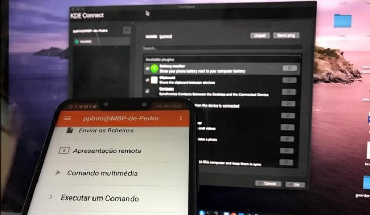 Ligue o seu Android ao Mac via KDE Connect