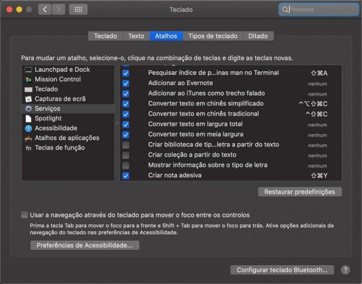 Como adicionar serviços em aplicações no macOS