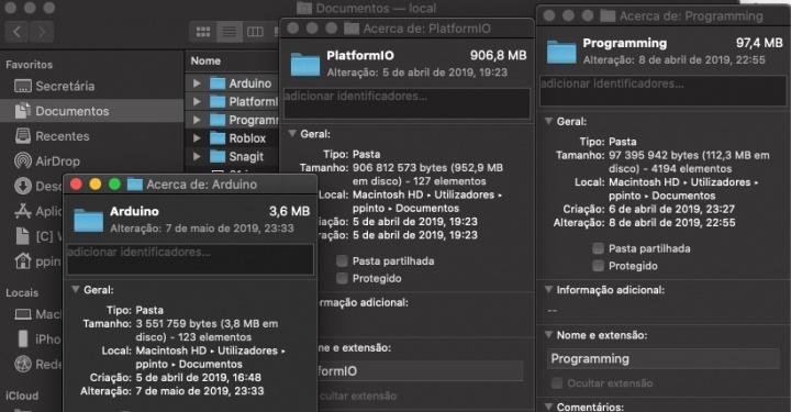 Truque! Como saber o espaço ocupado por vários diretórios no macOS?