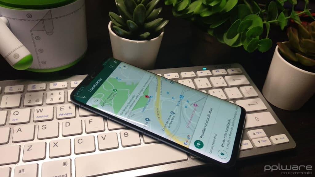 WhatsApp localização partilhar falsa app