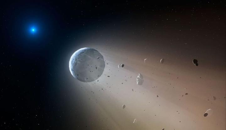 Ilustração de planetas mortos que imitem sinais moribundos captados na Terra