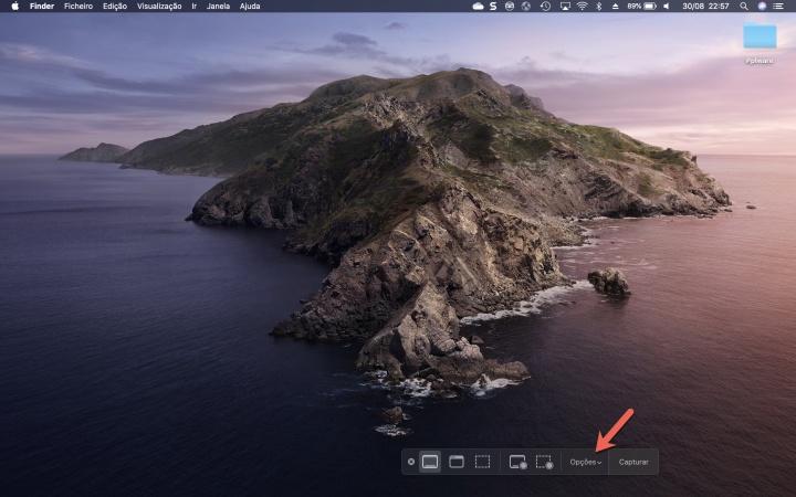 macOS miniaturas flutuantes imagem captar
