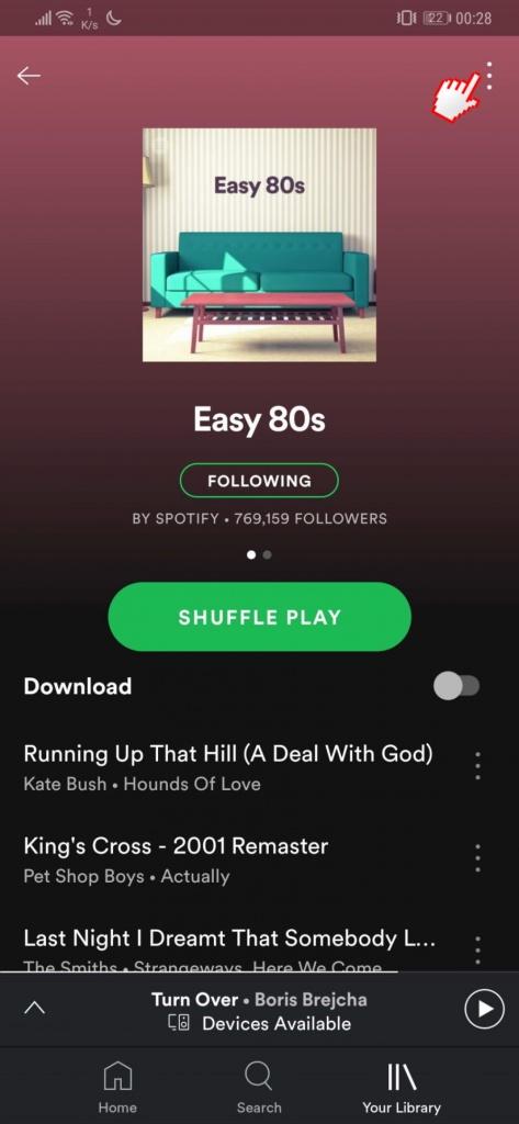Spotify dados músicas poupar preferidas