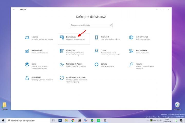 canhoto windows 10 rato configurar esquerda