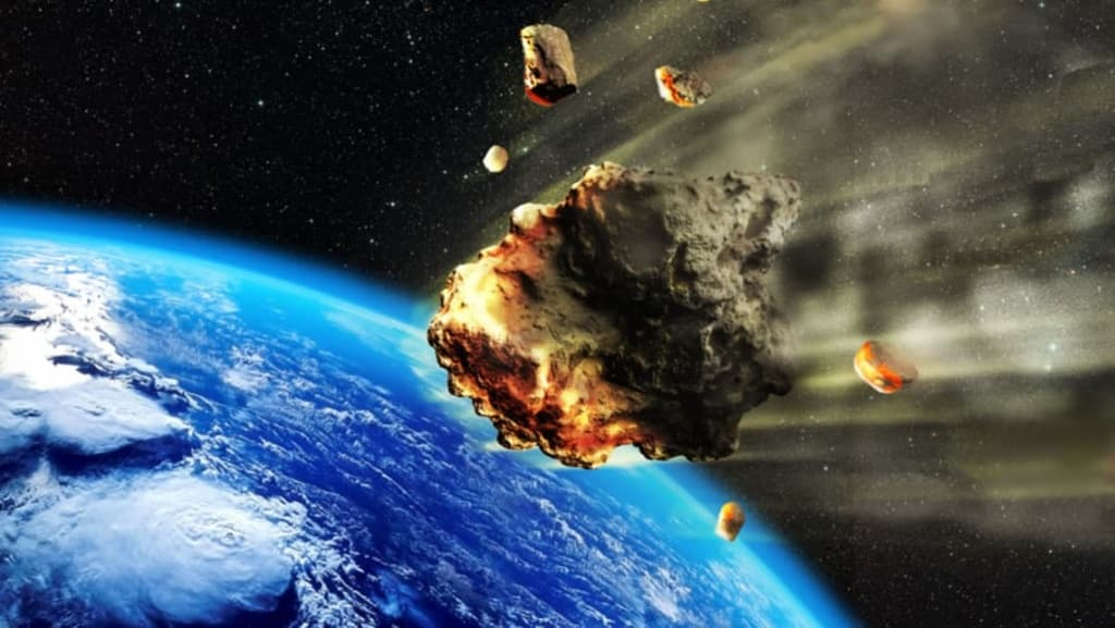 Imagem ilustrativa de 5 asteroides que irão passar pela Terra, segundo a NASA