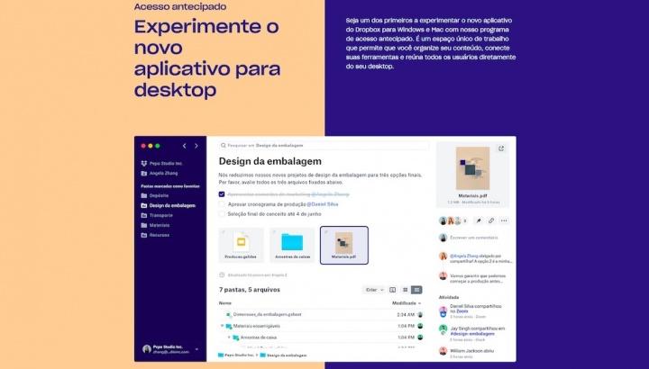 Dropbox app desktop