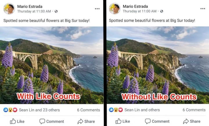 Facebook começa a esconder o número de likes nas fotos e publicações, já a partir de hoje!