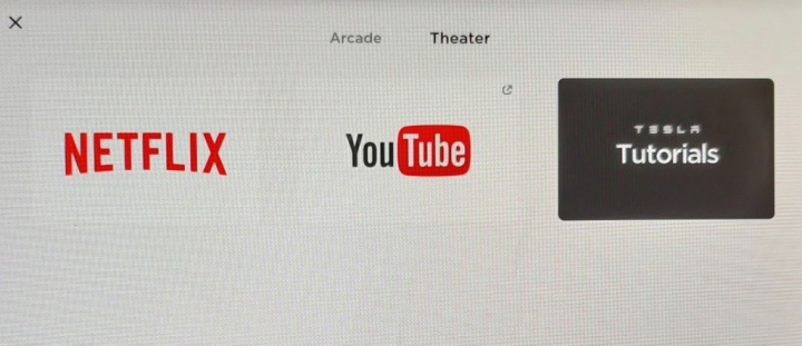 Tesla Theater Netflix YouTube