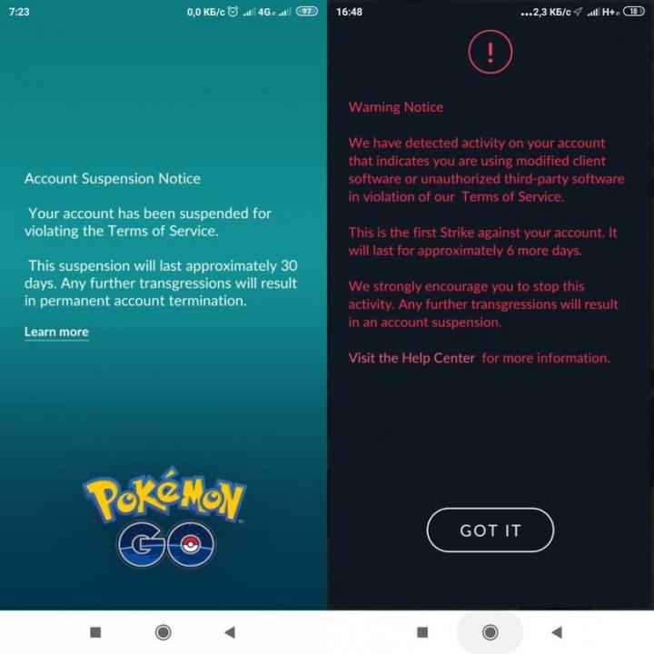 Pokémon GO Xiaomi Redmi 5 Termos do Serviço batota