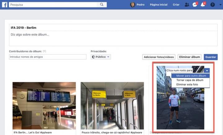 Como mover uma foto ou um vídeo entre álbuns no Facebook?