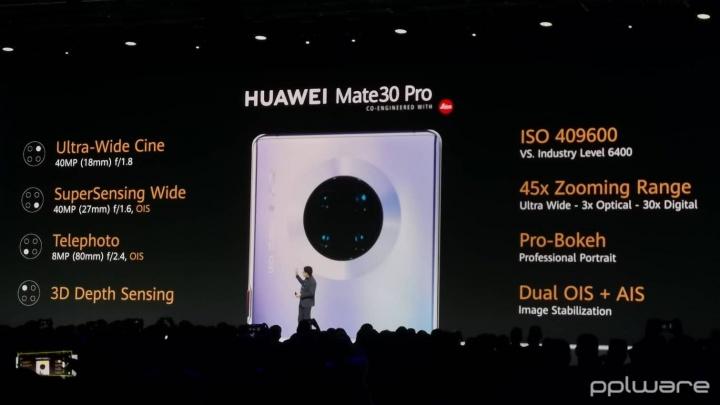 Huawei Mate 30 Pro câmara