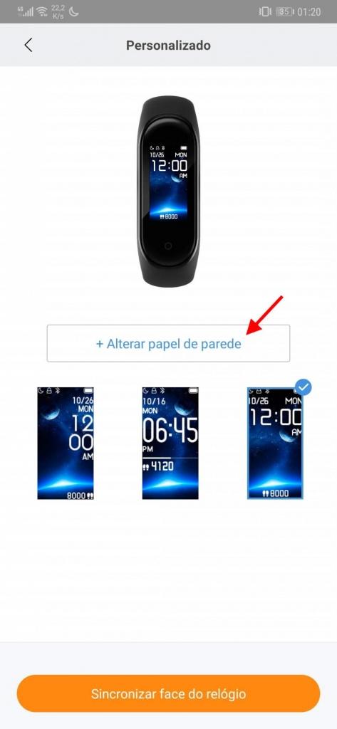 Mi Band Xiaomi smartband imagem ecrã