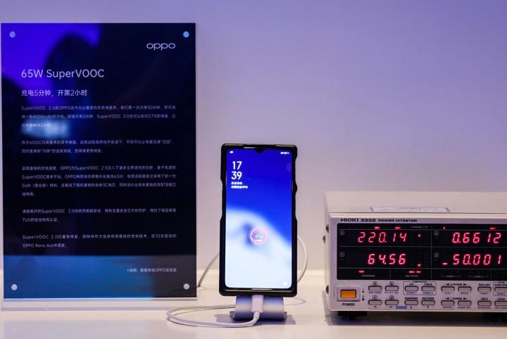Oppo revela tecnologia de carregamento rápido de 65 watt