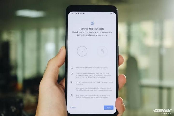 Pixel 4 Google smartphone reconhecimento facial