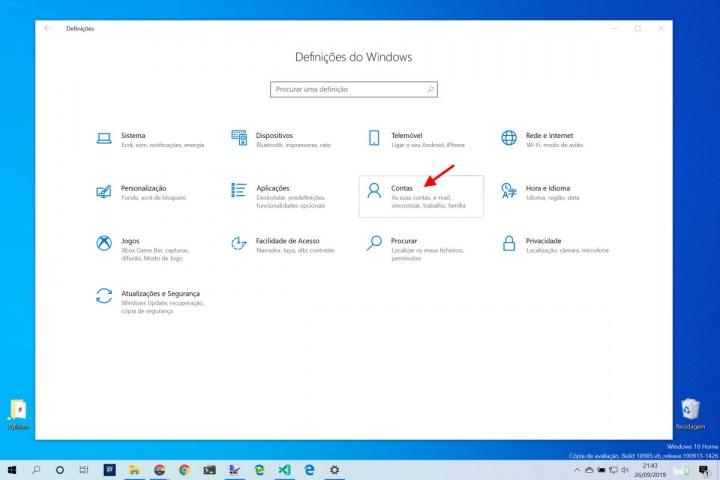 Windows 10 controlar dados partilha definições