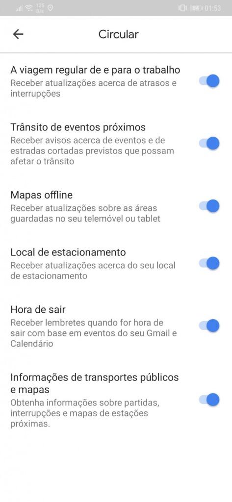 Google Maps notificações problemas trânsito