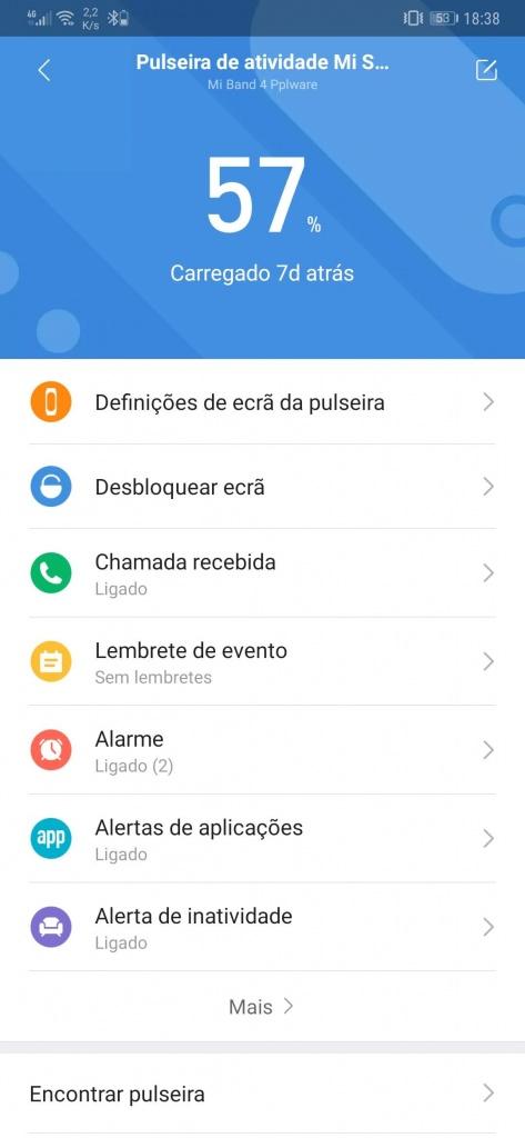 Mi Band smartband Xiaomi faces relógio
