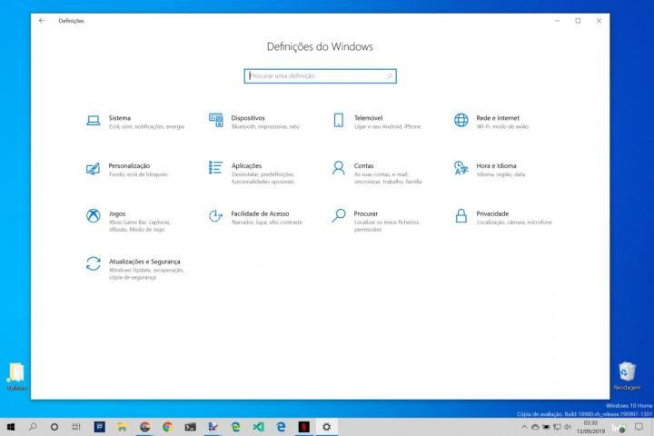Windows 10 notificações tempo aplicações