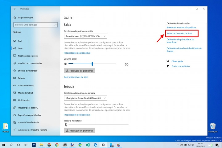 Windows 10 som otimizar harmonizar volume