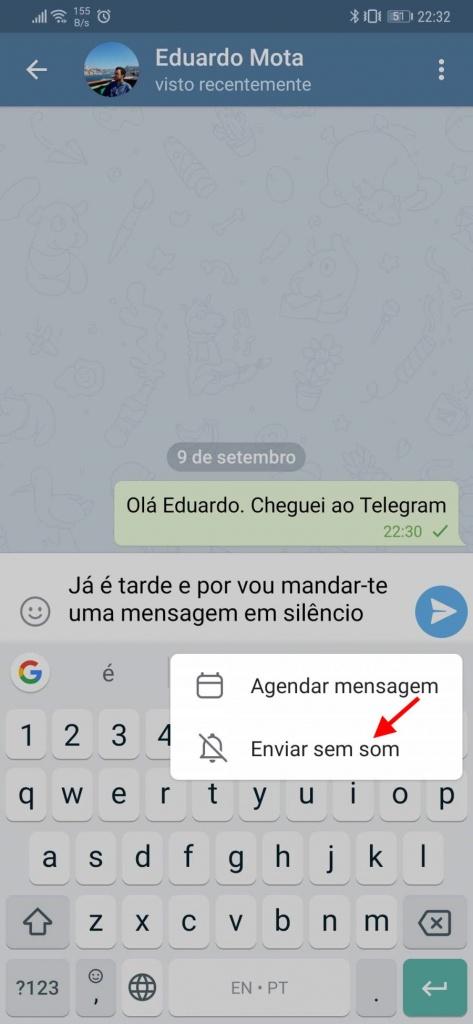 Telegram mensagens silenciosas agendar segurança