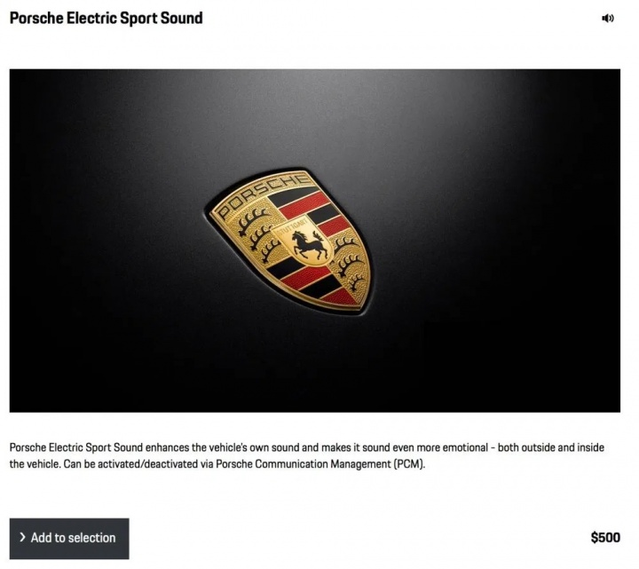 Taycan Porsche áudio som extra