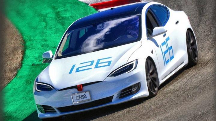 Tesla Model S Elon Musk Laguna Seca Porsche