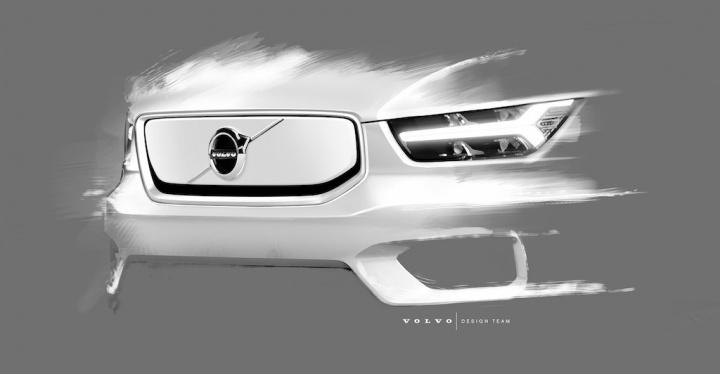 Volvo XC40 EV design imagens carro elétrico