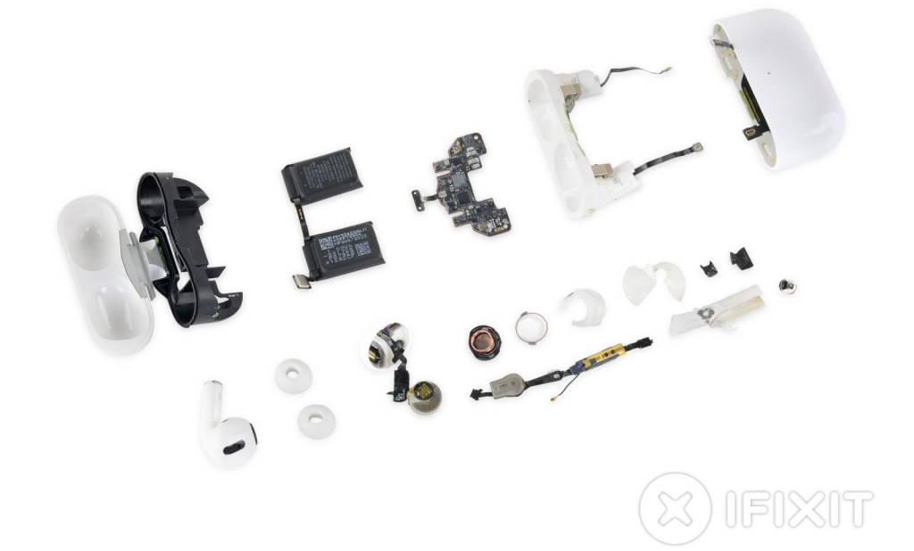 AirPods Pro Apple iFixit reparação construção