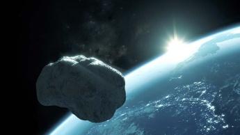 Imagem ilustrativa de asteroide que contém água