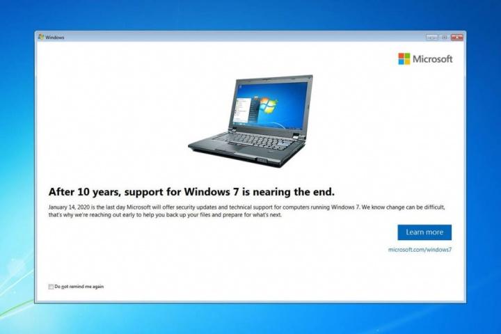 Windows 7 Windows 10 Microsoft Security Support