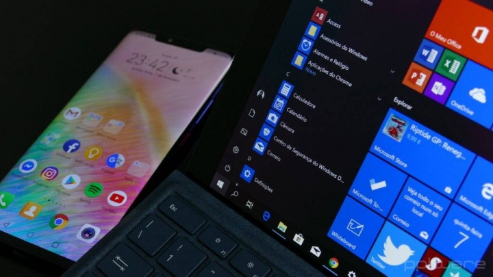 Windows 10 Menu Iniciar Microsoft Live Tiles ícones