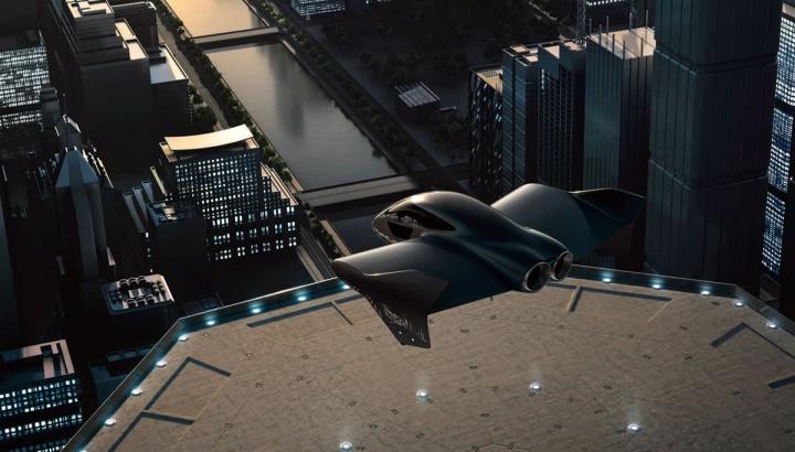 Imagem ilustrativa do projeto Boeing e Porsche para fazer um carro elétrico voador