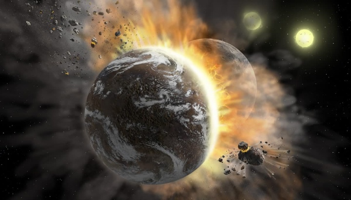 Imagem de ilustração NASA entre dois exoplanetas