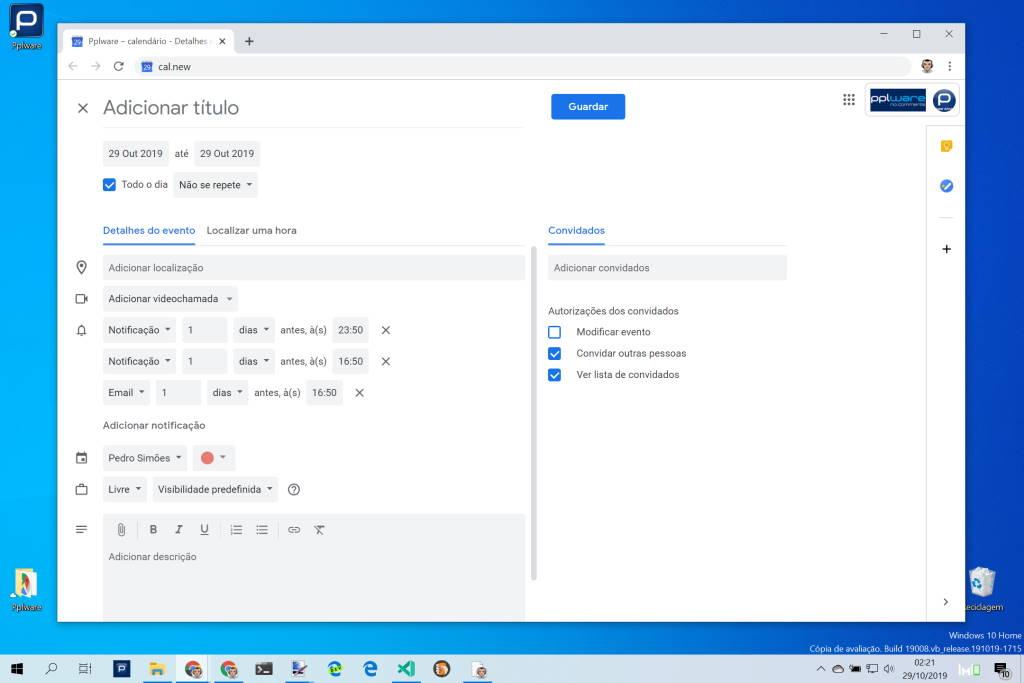 Google Docs atalhos documentos eventos