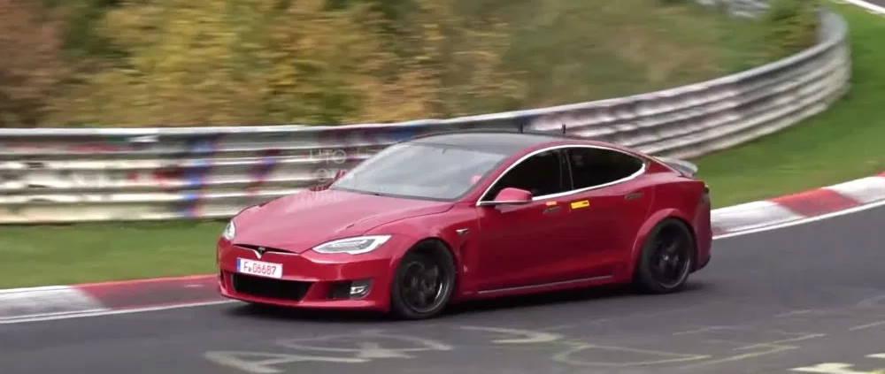Tesla Model S Nürburgring Porsche elétricos