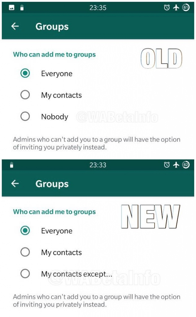 WhatsApp testar novidades Android grupos