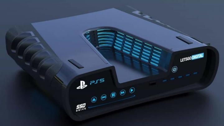 Imagem da suposta consola de jogos playstation 5 ou ps5 da Sony