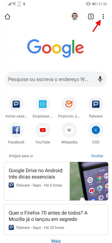 Google Chrome Android dark mode browser