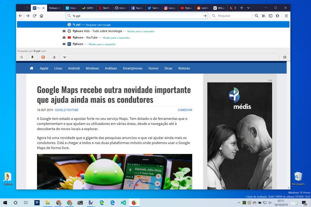 Firefox Mozilla dicas opções atalhos
