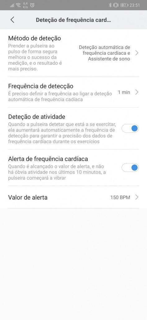 Mi Band frequência cardíaca Xiaomi smartband