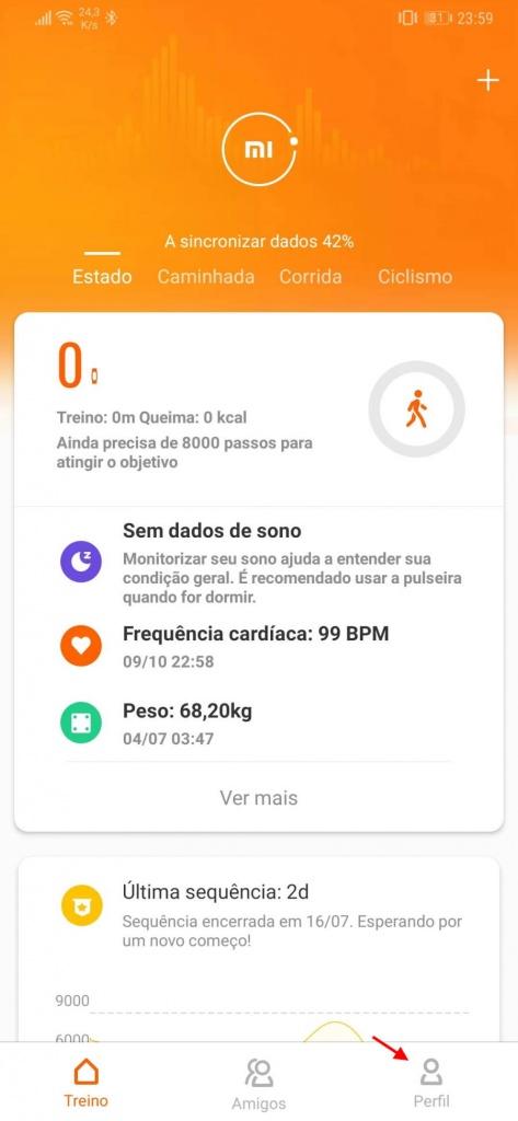 Mi Fit Mi Band Xiaomi notificação Android