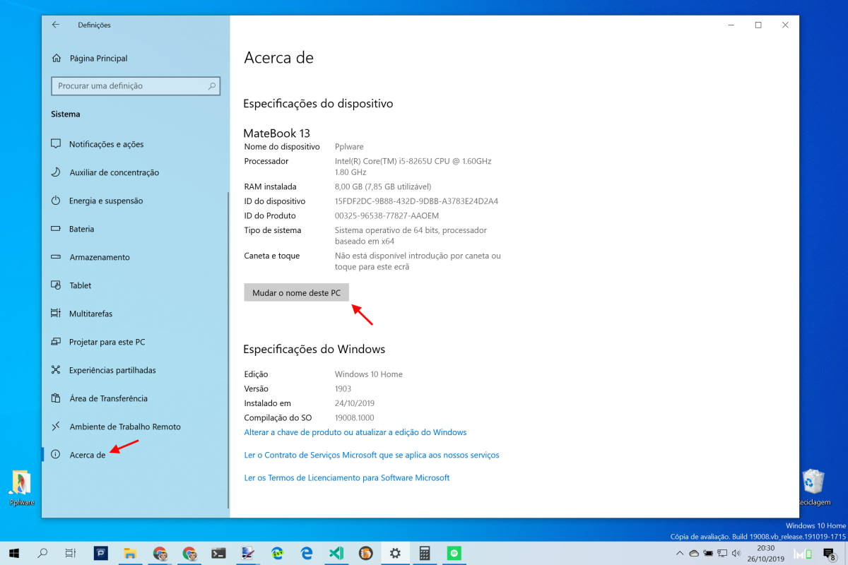Bluetooth Windows 10 nome dispositivos mudar