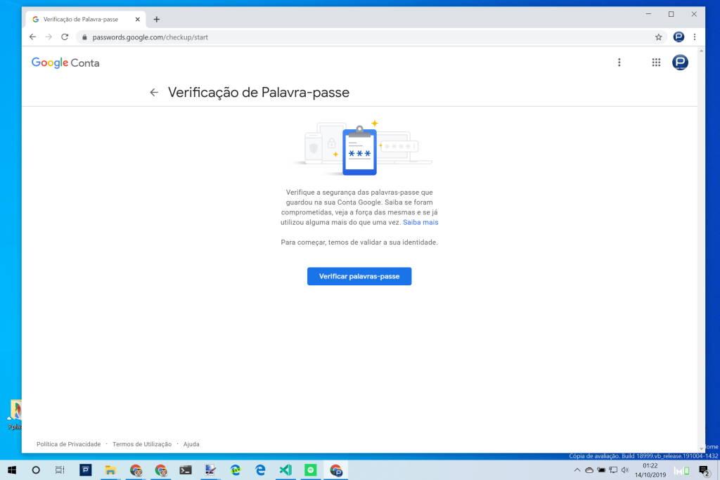passwords Chrome Google segurança avaliação
