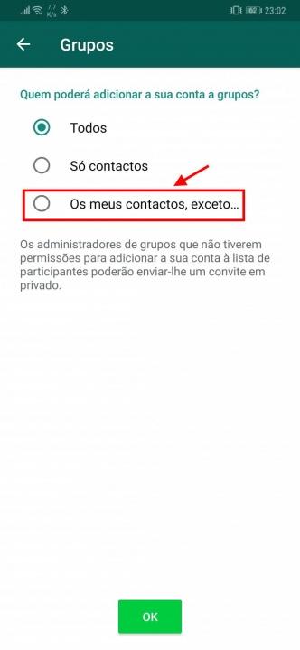 WhatsApp grupos utilizadores adicionar novidades