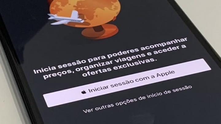 Imagem de início de sessão com Sign in with Apple