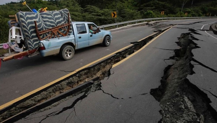 Imagem ilustrativa de um sismo de grande magnitude