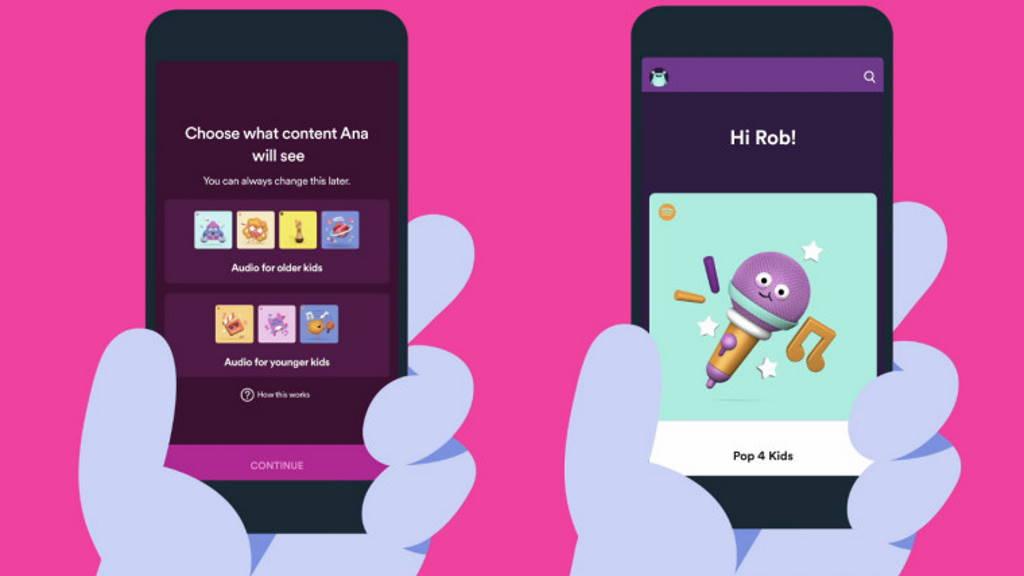 Spotify Kids música crianças app